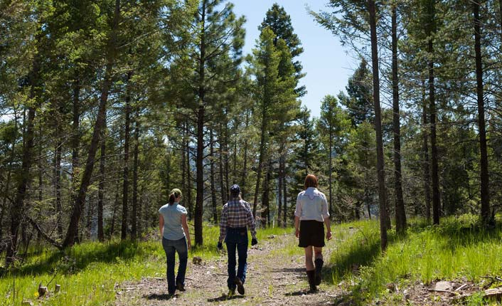 Walking on the Open Cross Ranch. Photo by Little Bear Photography.