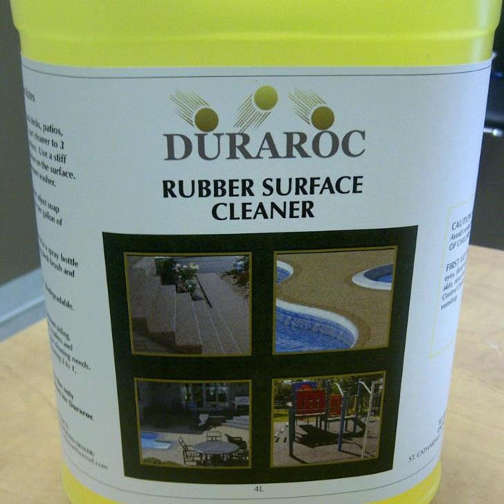 Nettoyant pour surface caoutchouté