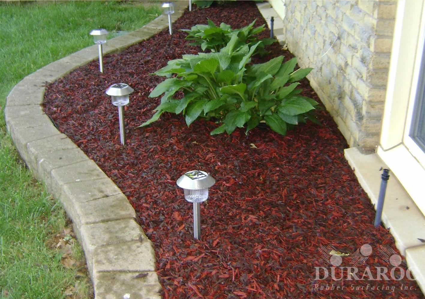 Duraroc garden rubber mulch