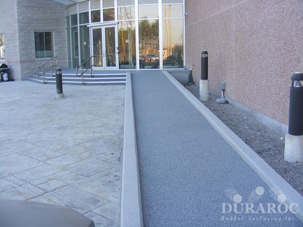 Wheelchair access ramps with Duraroc non-slip coating