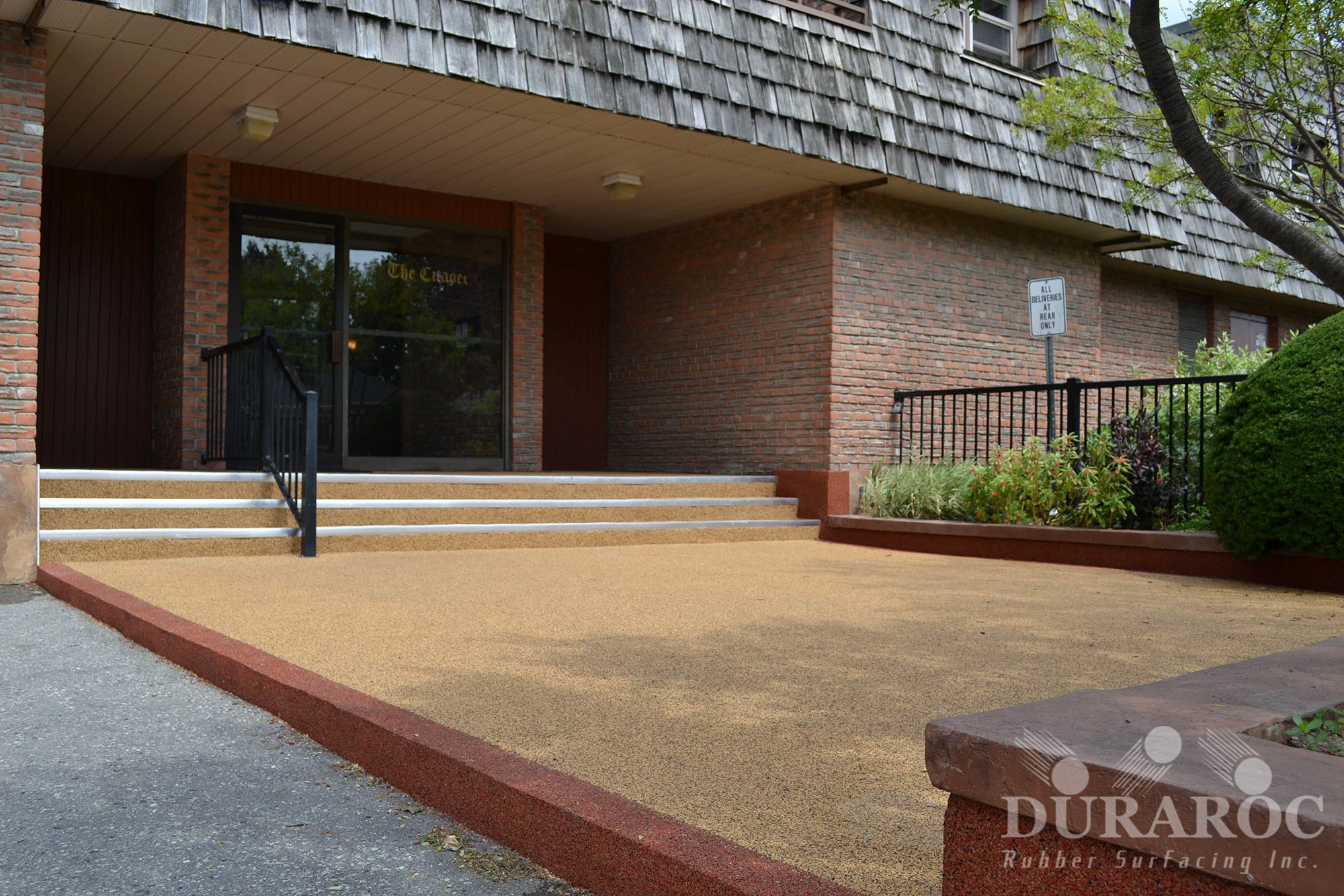 Commercial and apartment entrance with Duraroc