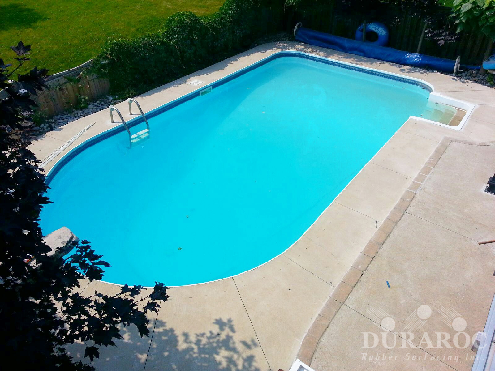 Residential pool before Duraroc coating