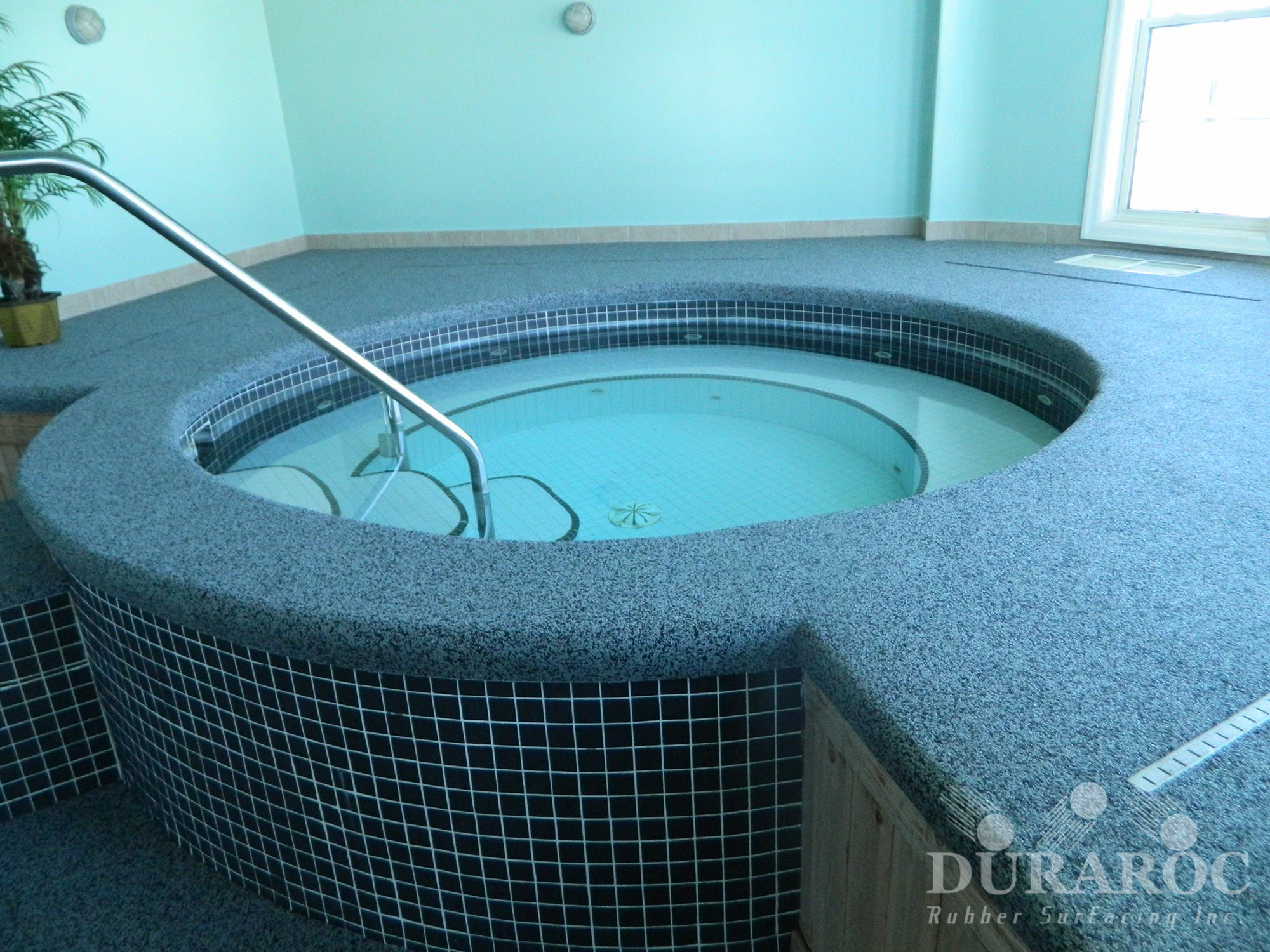 Spa with Duraroc anti-slip coating