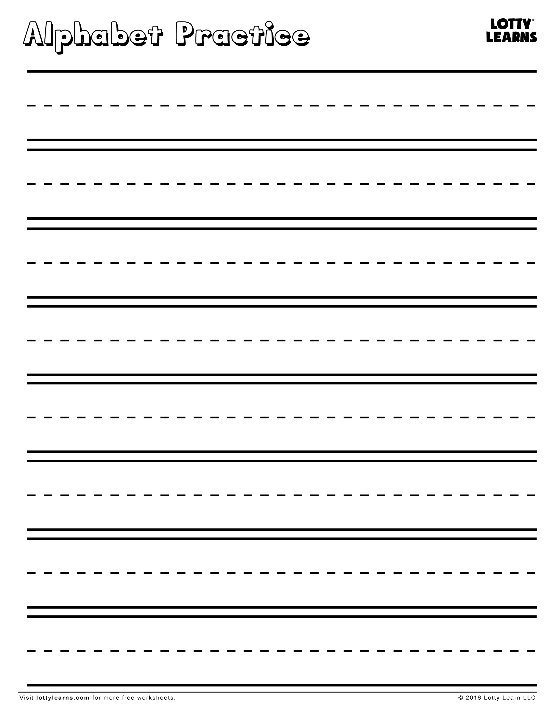 worksheet Alphabet Practice Worksheet alphabet practice sheet lotty learns download share with friends sheet