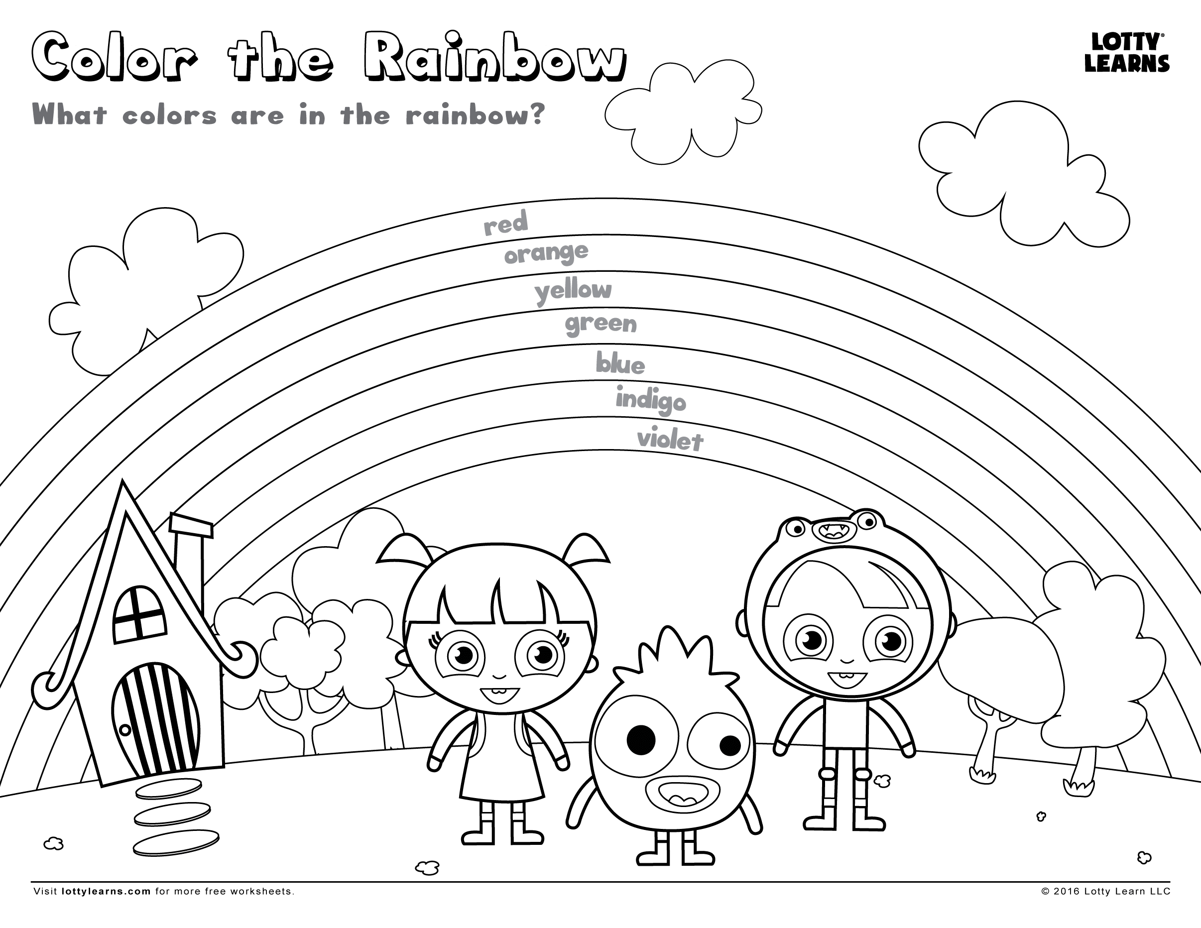 Color the Rainbow – Rainbow Worksheets