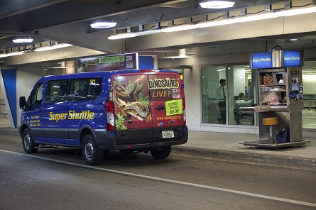 Zoo Miami Ad on a SuperShuttle Airport Shuttle