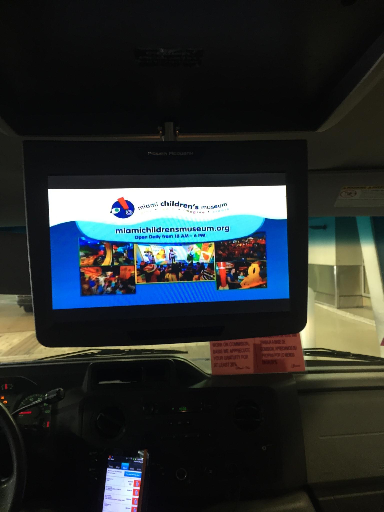 Airport Shuttle CCTV advertisement