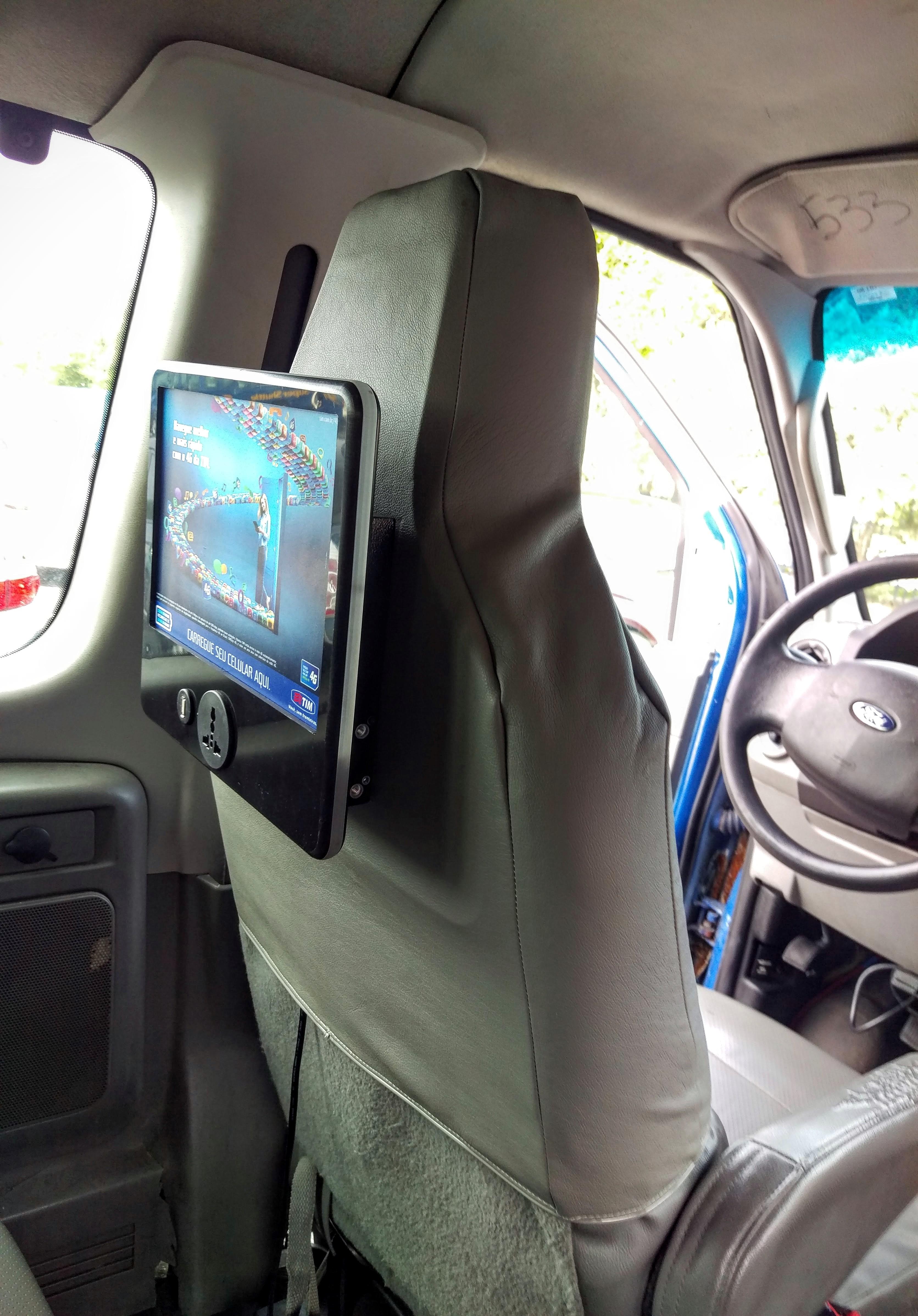 In shuttle CCTV advertisement