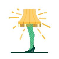 heeled leg lampshade