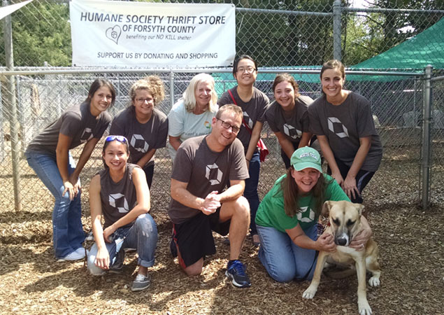 Intradiem participates in several community service projects during the year to give back
