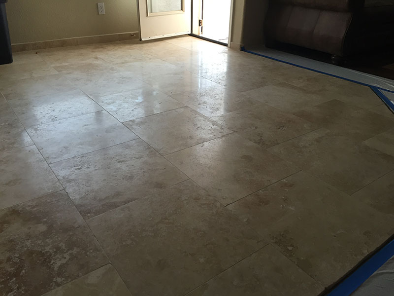 travertine cleaning
