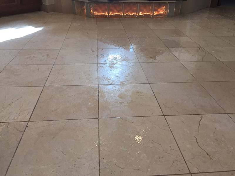 Marble Cleaning before