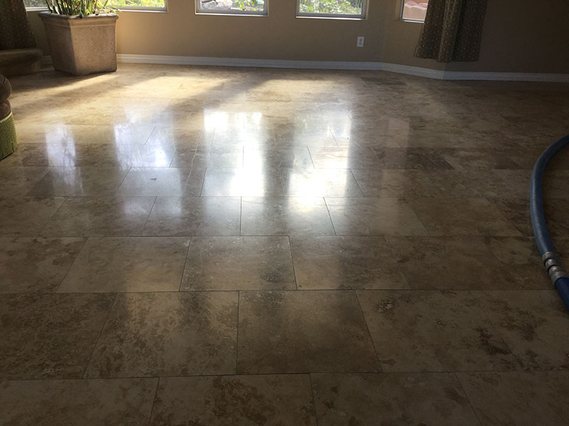 travertine cleaning before