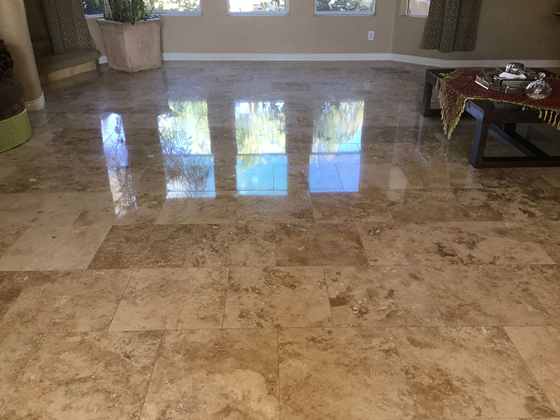 travertine cleaning after