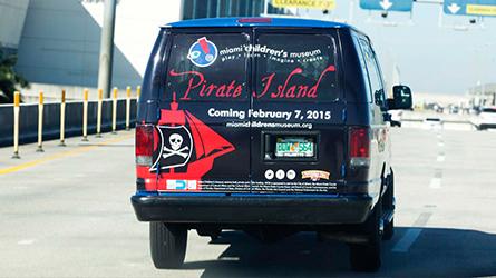 Miami Children's Museum Back Wrap Advertisement seen in Fort Lauderdale