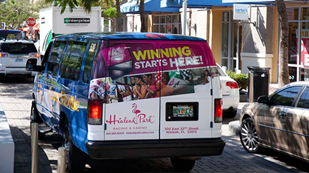 Hialeah Park Casino Back Wrap seen at Midtown Miami