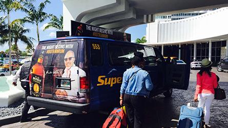 Botran Rum Shuttle Ad Campaign at the Fountain Blue in Miami Beach