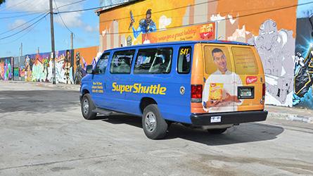 Botran Rum Shuttle Wrap Ad Campaign at Wynwood Walls