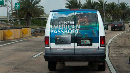 Citicards Shuttle Wrap Advertisement at Miami Beach