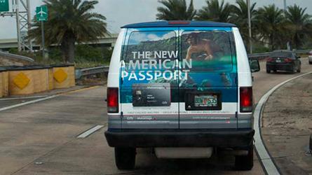 Citicards Shuttle Wrap Advertisement at Miami Beach