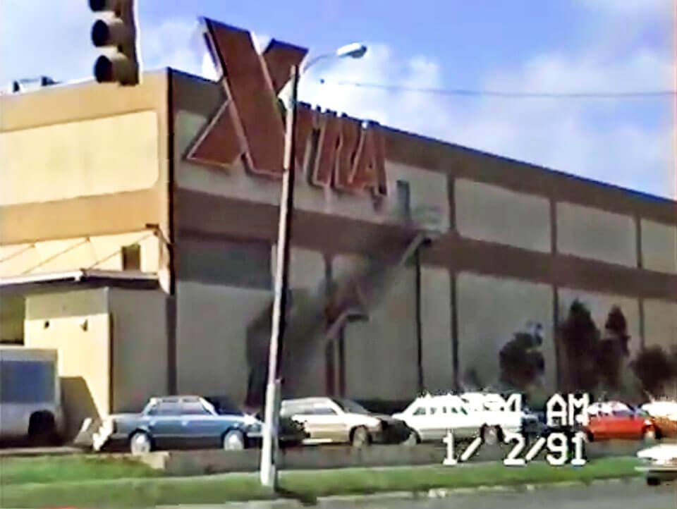 Foto vieja de XTRA en Plaza Carolina en el 1991, Carolina, Puerto Rico.