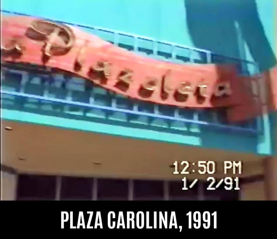Foto vieja de La Plazoleta en Plaza Carolina en el 1991, Carolina, Puerto Rico.