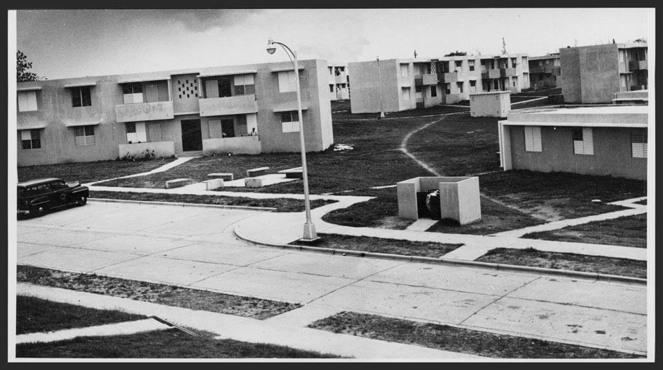 Foto vieja del Residencial Felipe Sánchez Osorio en el 1953, Carolina, Puerto Rico.