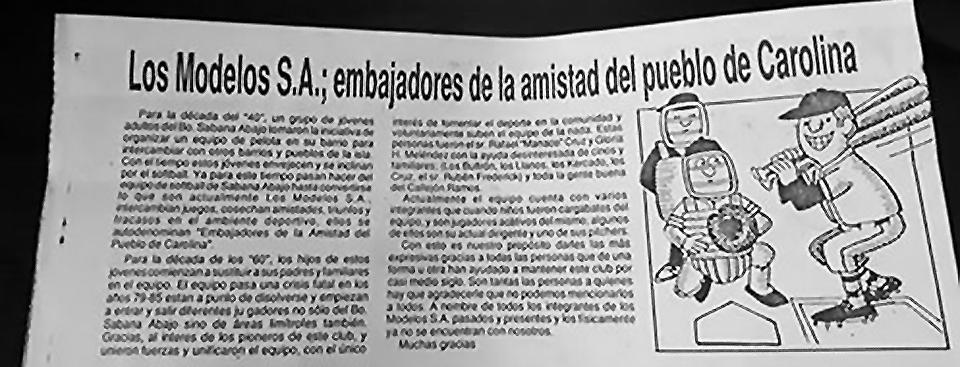 Los Modelos SA; Callejón Ramos, Barrio Sabana Abajo, Carolina, PR.