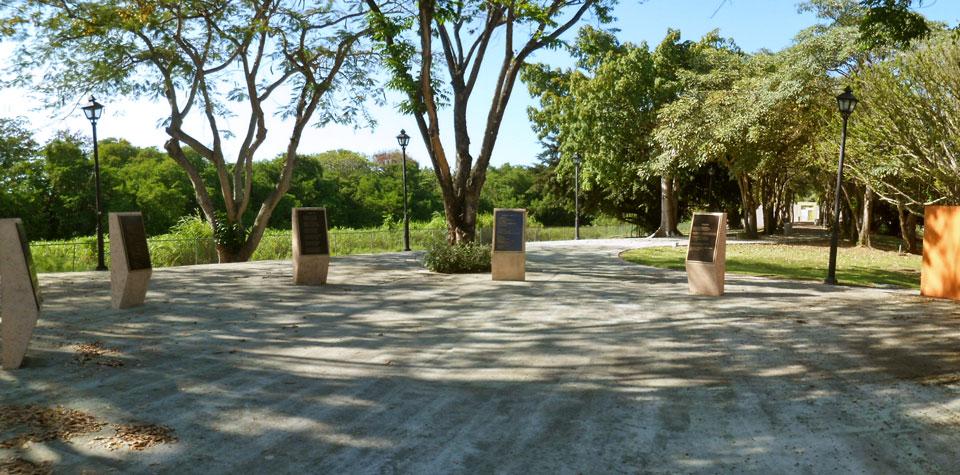Entrada al Mausoleo Julia De Burgos, Carolina, Puerto Rico.
