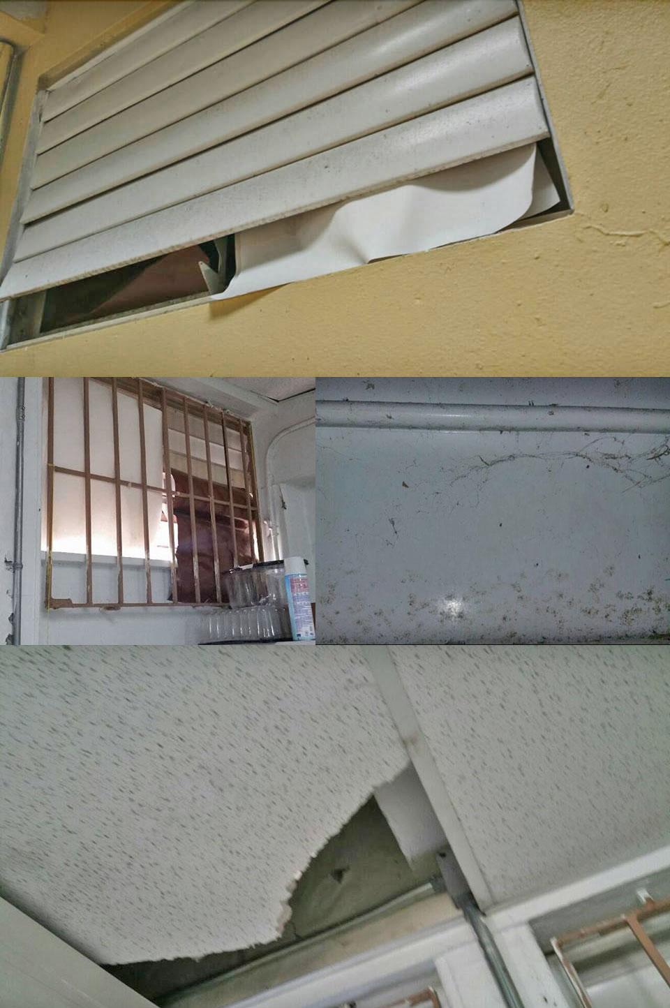 Escuela Petra Román Vigo del Barrio San Antón, Carolina, Puerto Rico, deteriorada.