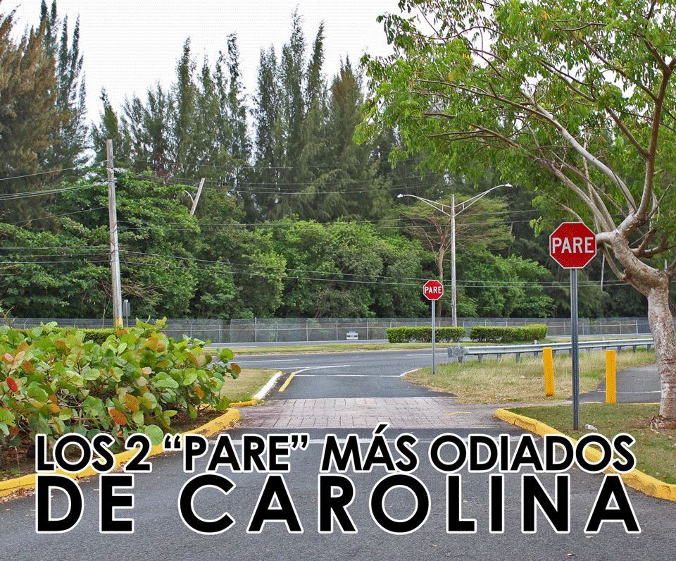 """""""Pares"""" en zona de examen de conducir entre Isla Verde, Carolina y Piñones, Puerto Rico."""