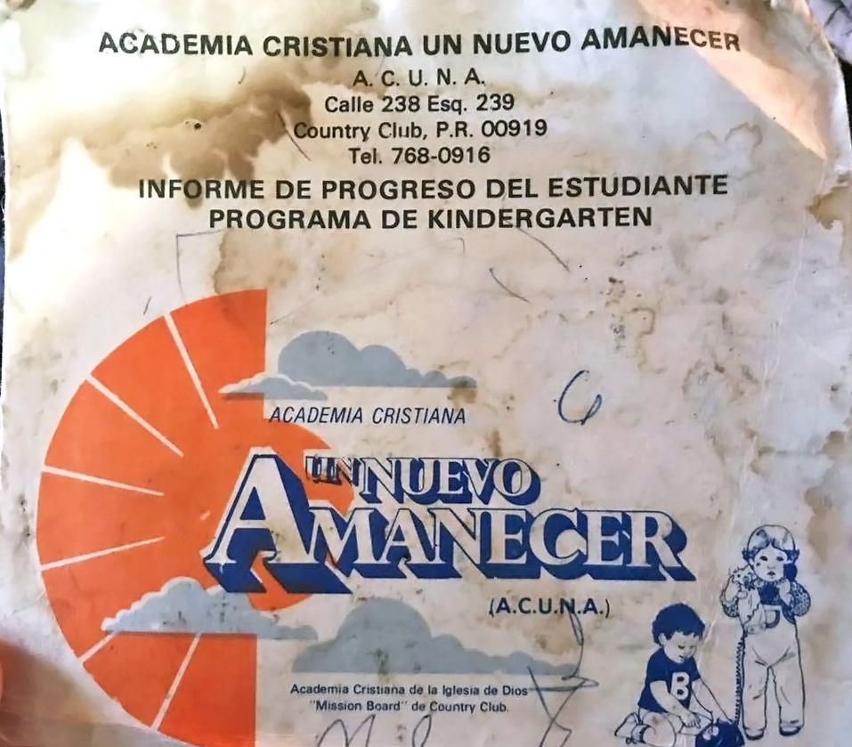 ACUNA, de la Antigua Iglesia Mission Board, Country Club, Carolina, Puerto Rico.