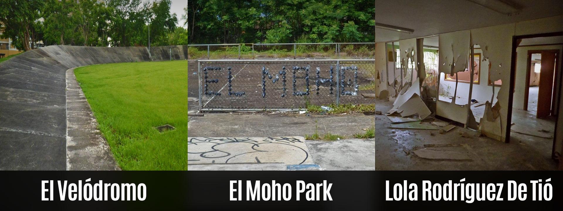 El Velódromo, el Moho Park y la Escuela Lola Rodríguez De Tió en Carolina, Puerto Rico.