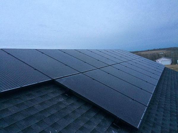 All black solar panels Edmonton Alberta