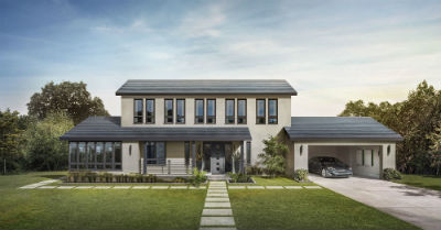 Tesla Smooth Glass Solar Roof Shingle Alberta