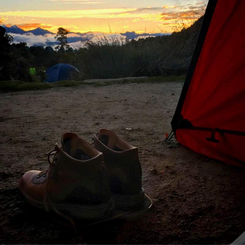 hiking-boots-at-camp-on-the-inca-trail