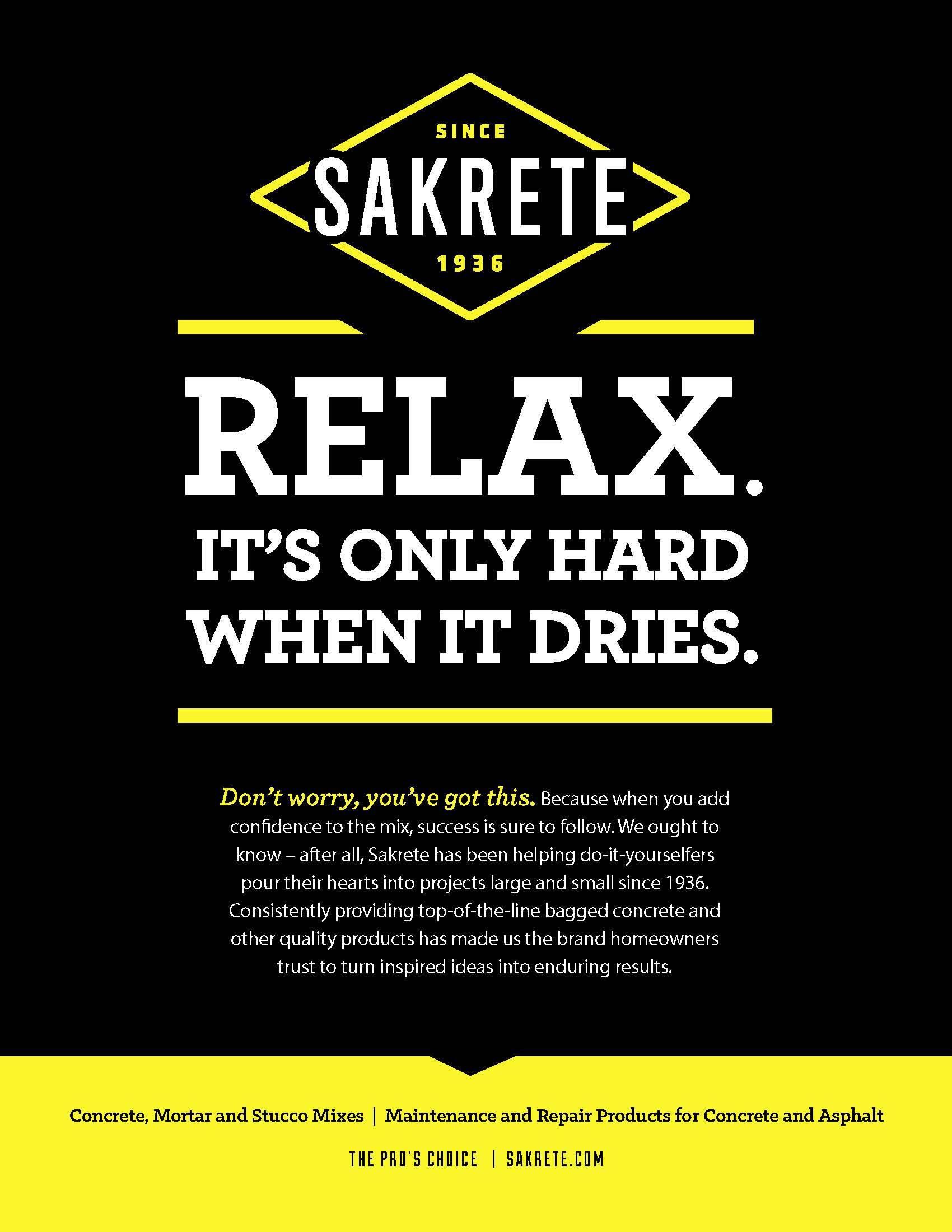 Sakrete: Print Ad Relax