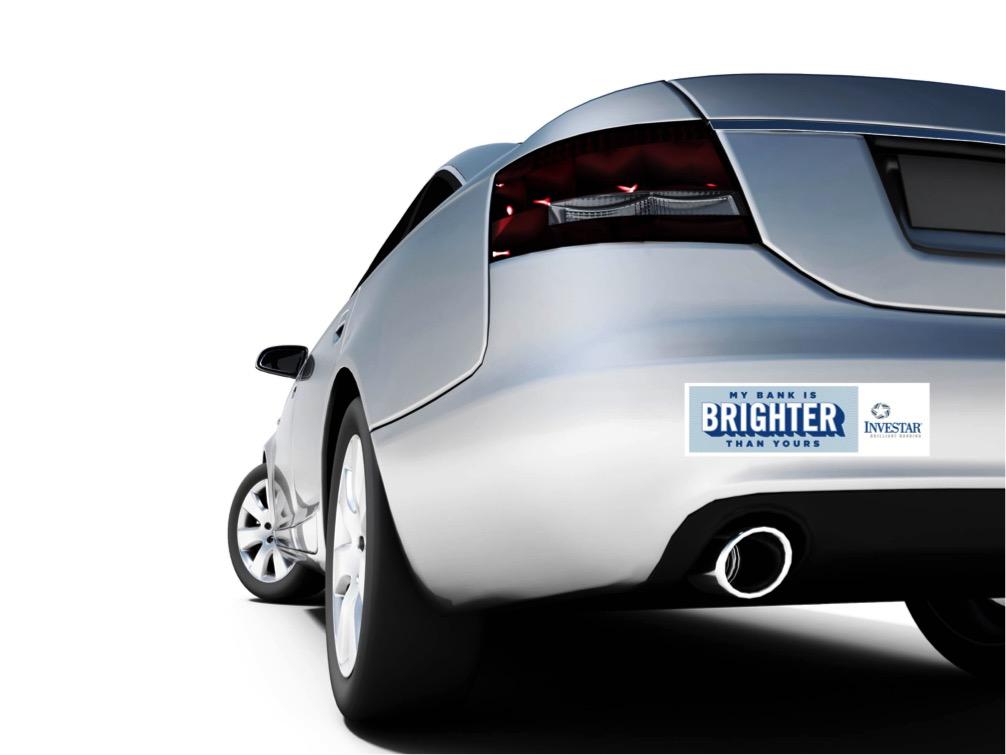 INV: Bumper Sticker Mockup