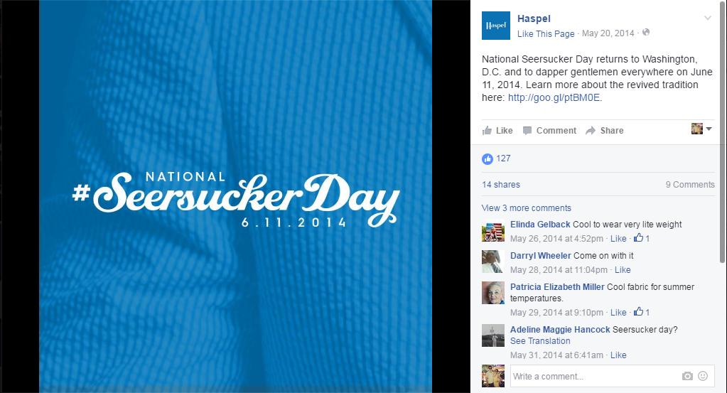 HAS: Social Media — Seersucker Day 1