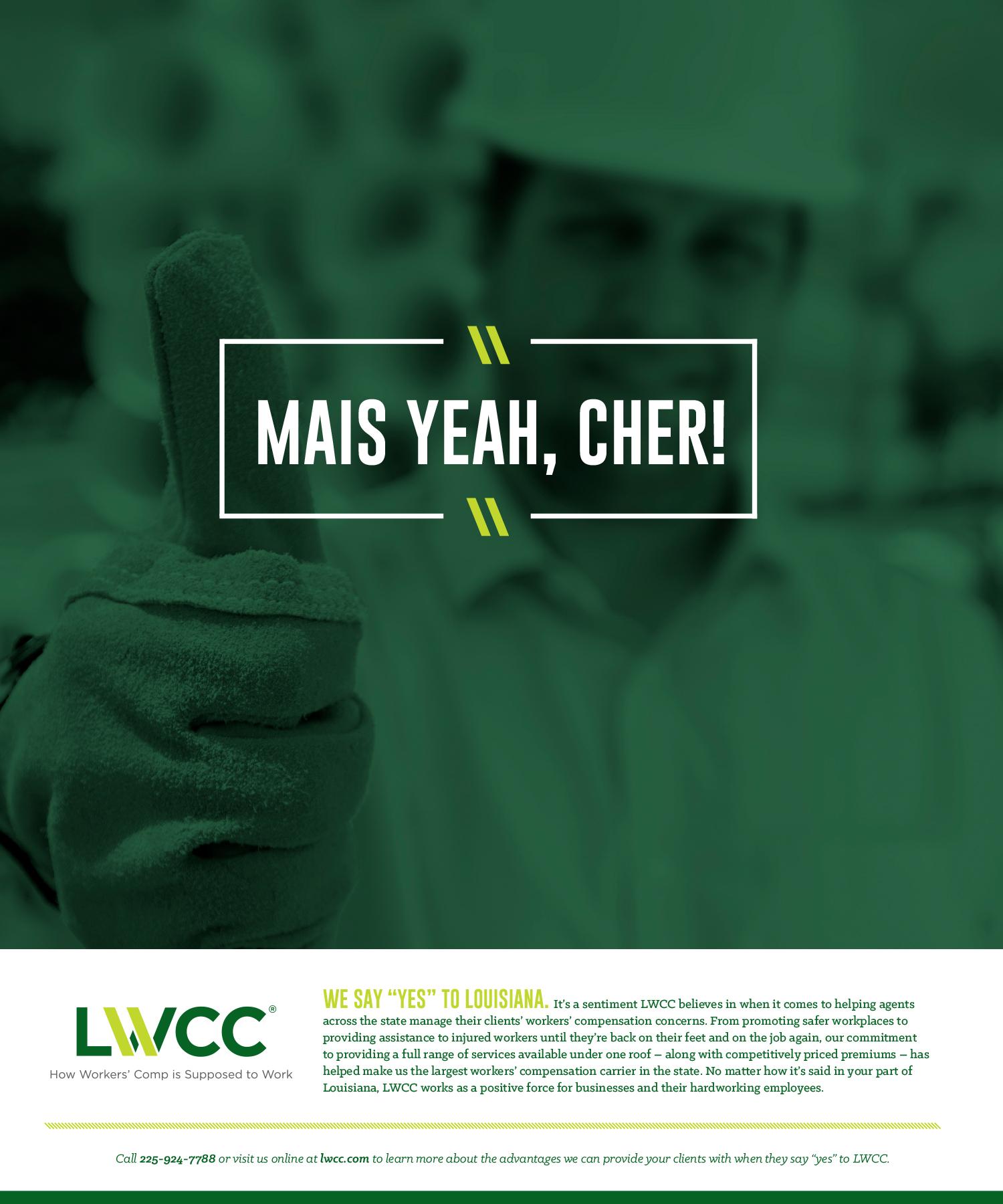 LWCC: 2015 Print Ad — Mais Yeah, Cher