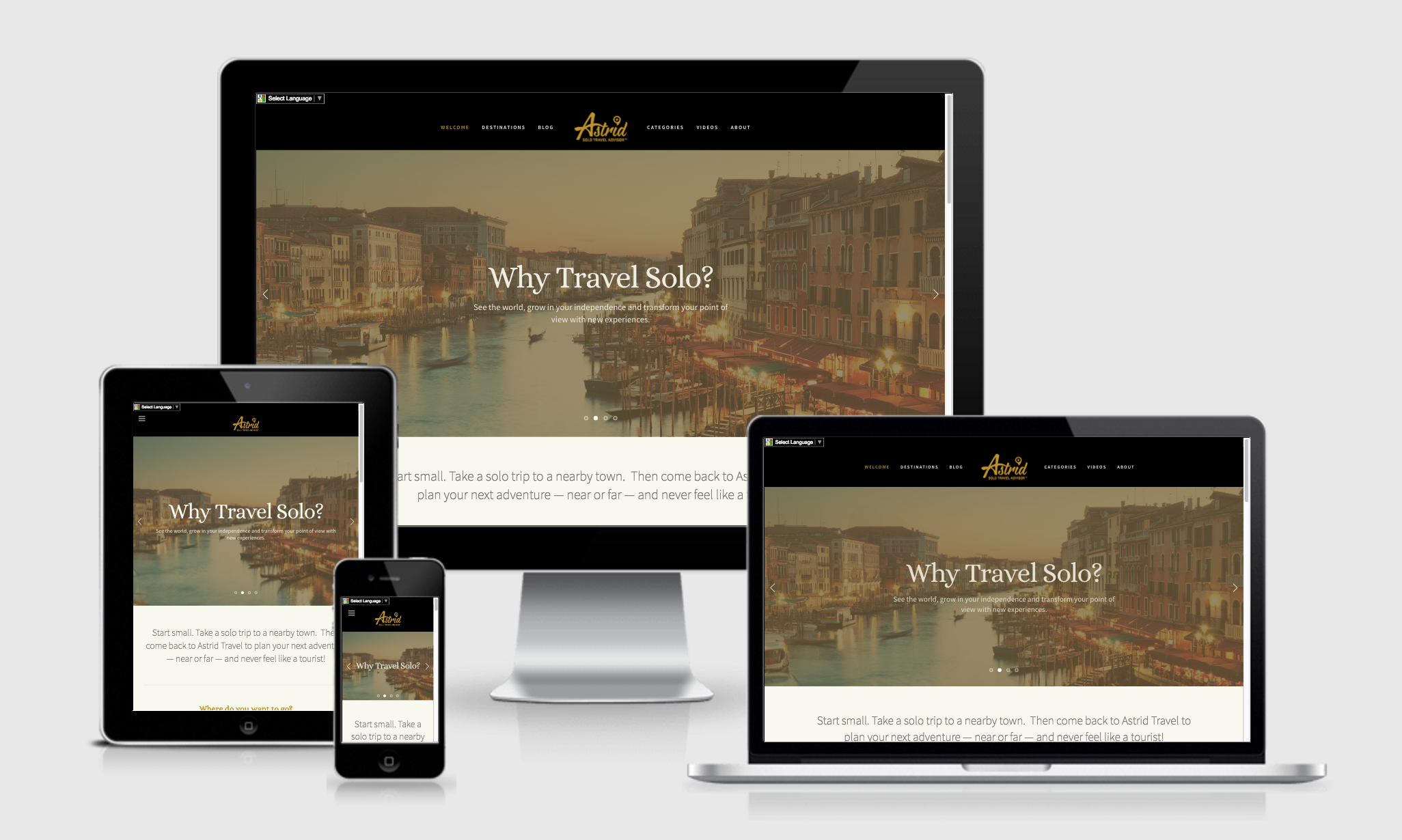 ASTRID: Website Design