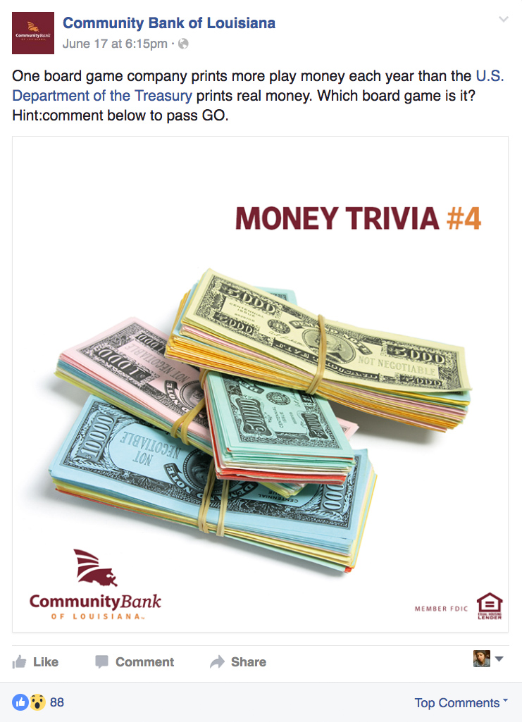 CBLA: Social Posts - Money Trivia