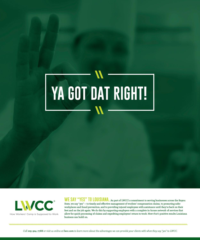 LWCC: 2015 Print Ad — Ya Got Dat Right