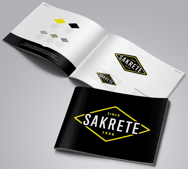 Sakrete: Brand Identity Manual Mockup