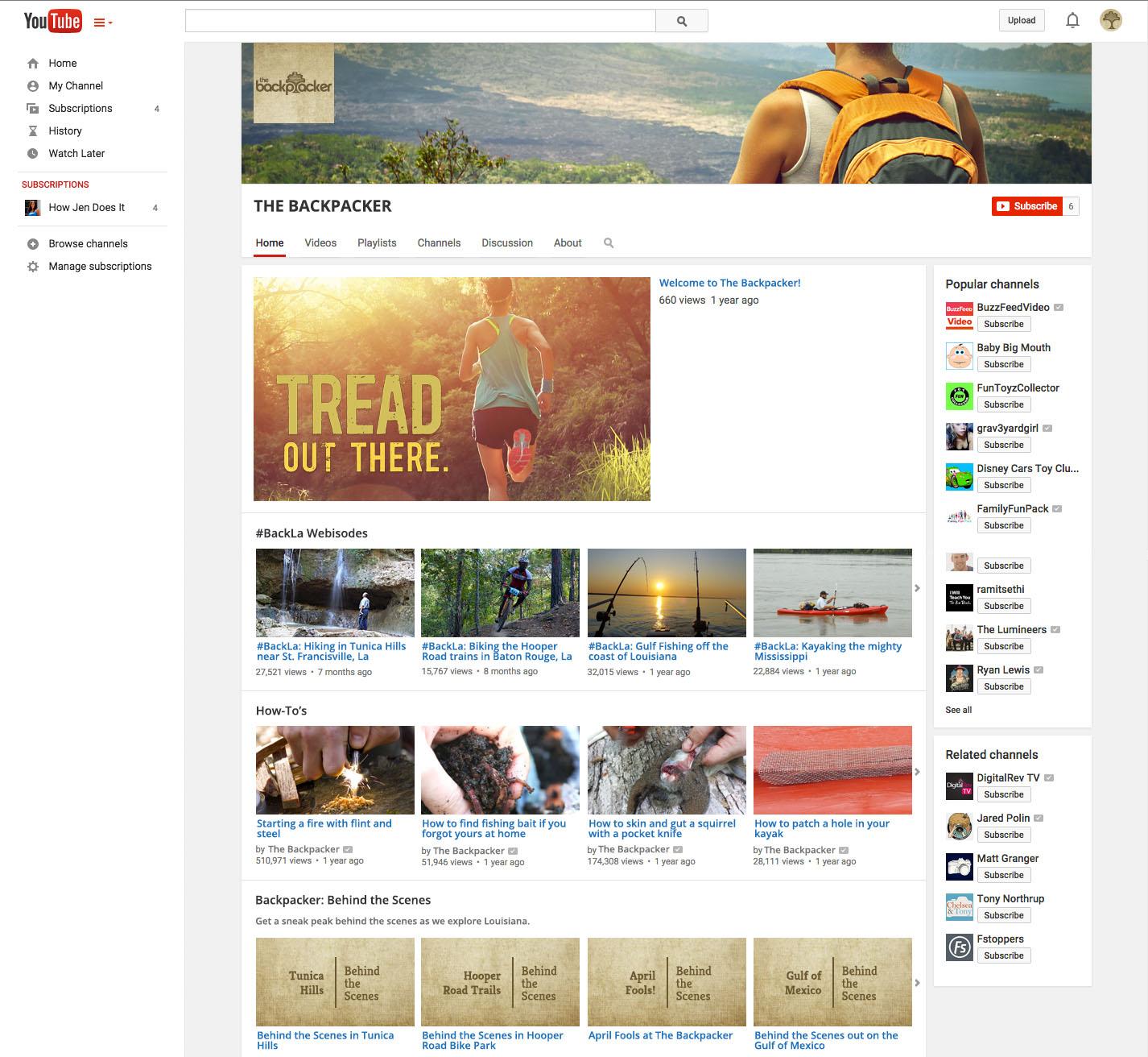 BCK: YouTube Mockup