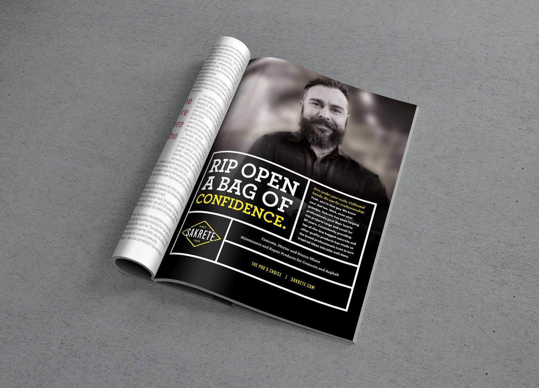 Sakrete: Print Ad Mockup