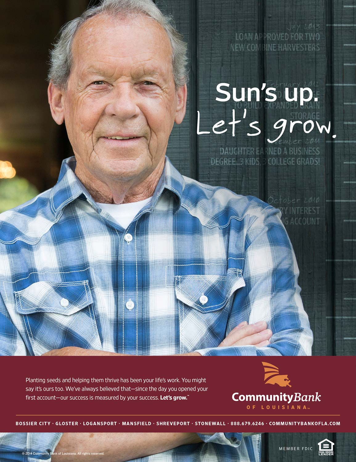 CBLA: Let's Grow Sun's Up Print Ad