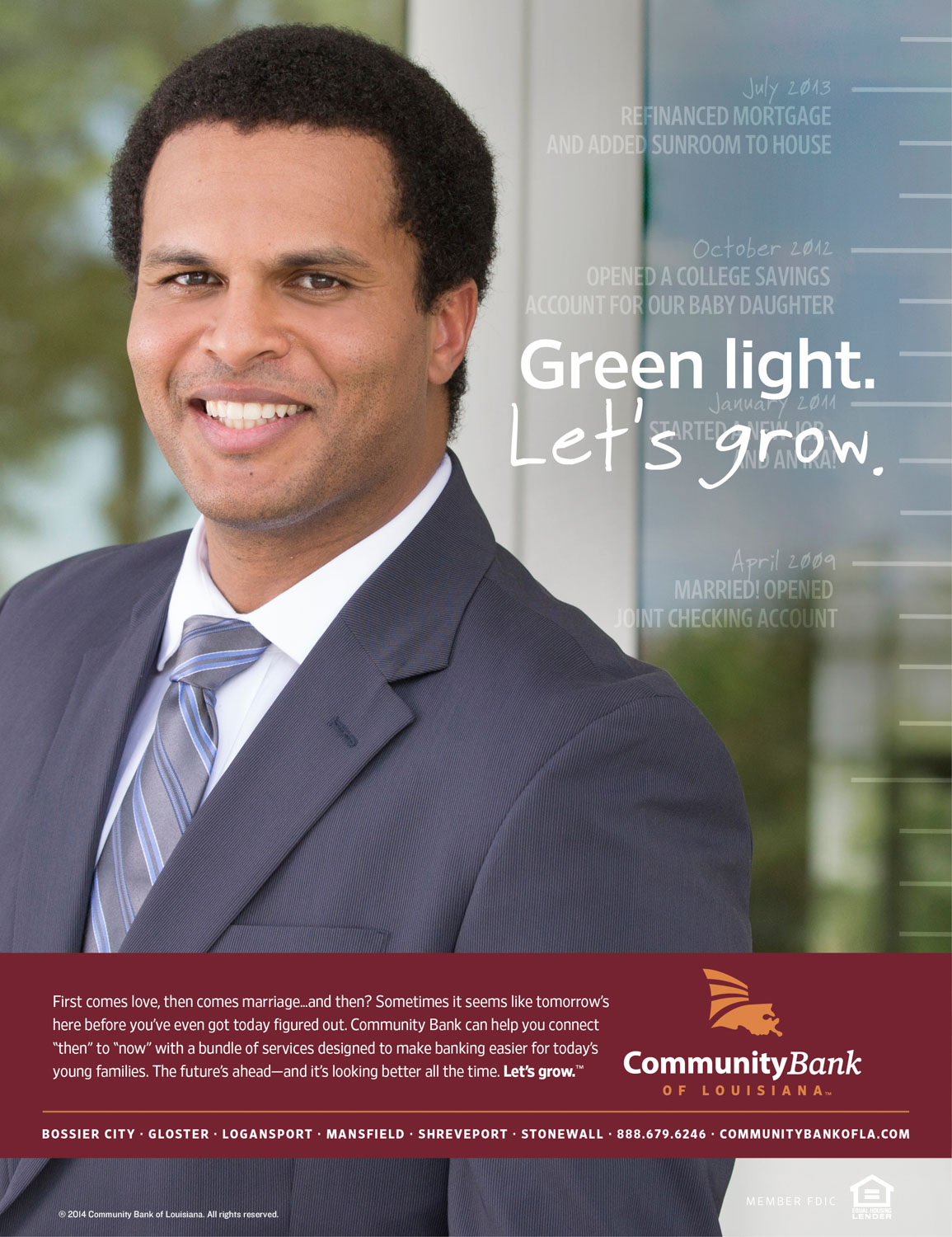 CBLA: Let's Grow Green Light Print Ad