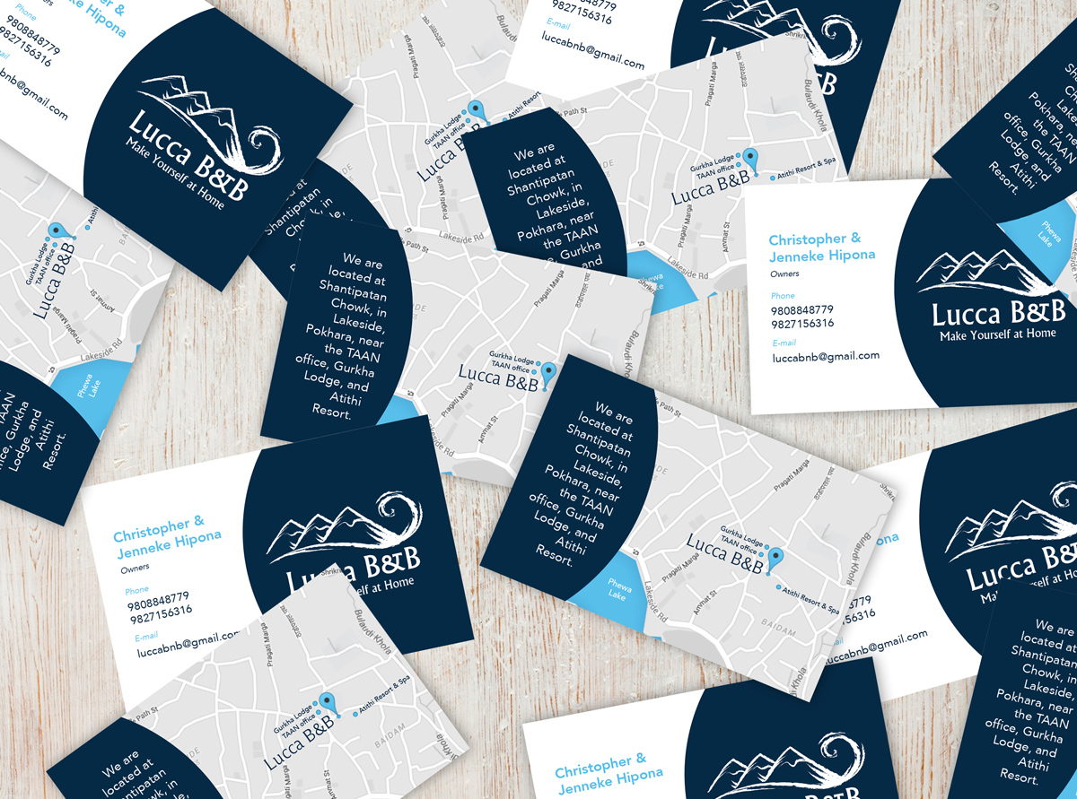 Lucca Bed and Breakfast Business Cards