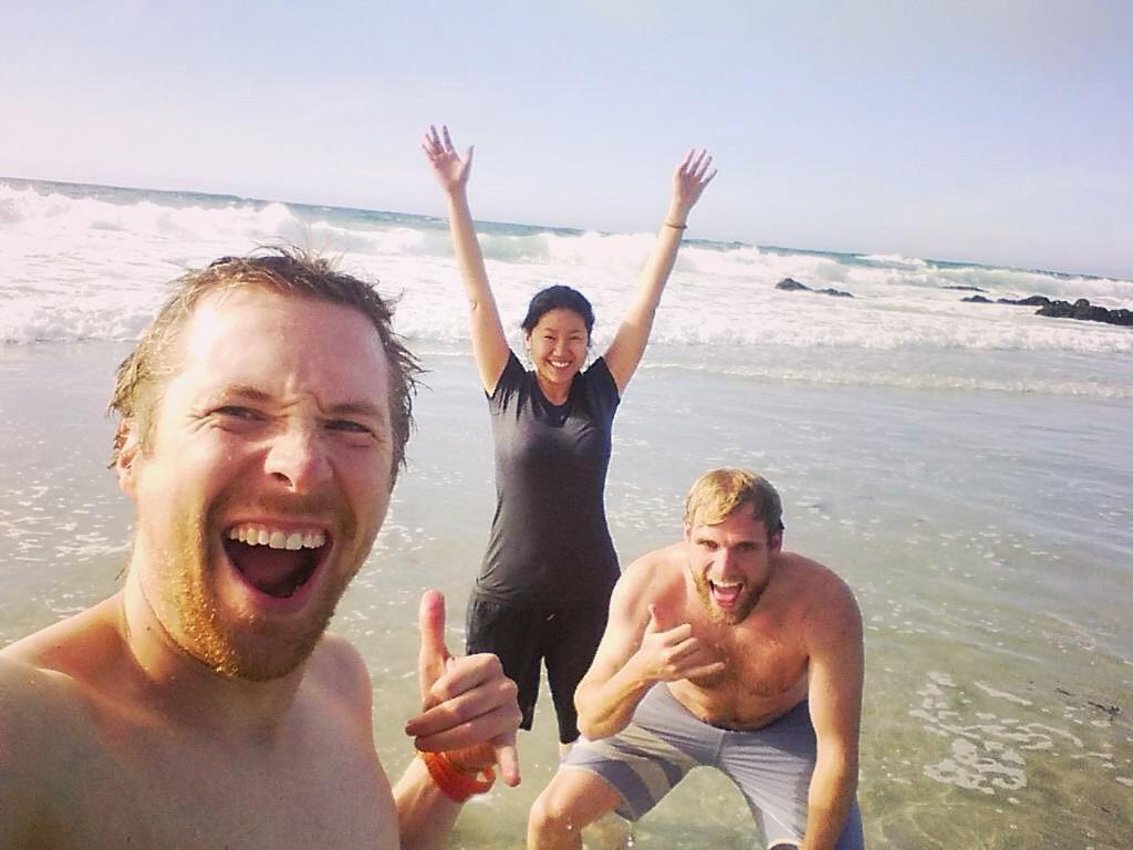 Bodysurfing in California